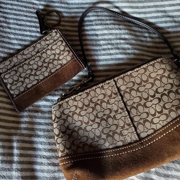 Coach Handbags - Matching Coach Wristlet & Coin Purse